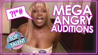 MEGA ANGRY! ANGRIEST AUDITIONS EVER on Got Talent, X Factor & Idols | Top Talents