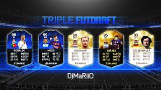 TRIPLE FUT DRAFT + FINAL CON CABREOS Y RECOMPENSA SANA !! FIFA 16 | DjMaRiiO