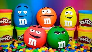 M&M's Surprise Eggs Play Doh