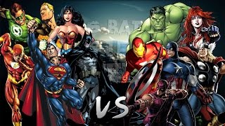 Los Vengadores vs La Liga de la Justicia. Épica Batalla Final de Rap del Frikismo   Keyblade & Otros