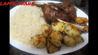 Lamb shank recipe with roasted potatoes