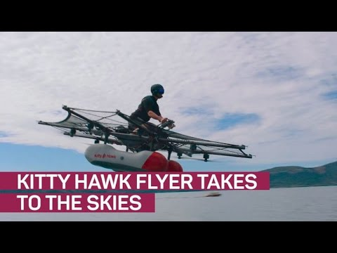 Larry Page shows off crazy flying car Kitty Hawk CNET News