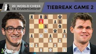 Carlsen vs Caruana (Tiebreak Game 2 Analysis) | World Chess Championship 2018