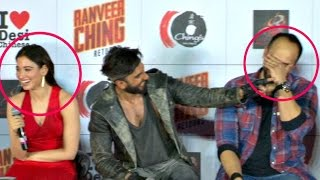 Ranveer Singh FUNNY Moments With Reporters At Ranveer Ching Return Launch