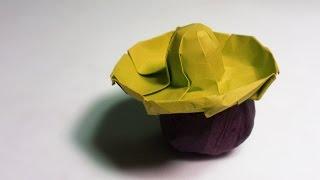 Paper Hat - Origami Sombrero Hat tutorial - DIY (Henry Phạm)
