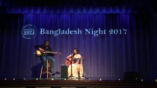 Cholo na ghure ashi- Kuhu Mannan(Performance @Purdue BDSA Bangladesh night 2017)