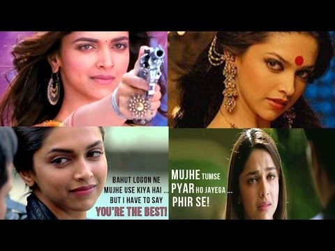 12 Famous One liner Dialogues Of Deepika Padukone | Watch Video