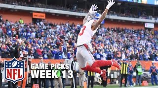 Game Picks in 60 Seconds (Week 13) ⏱🏈 | NFL NOW