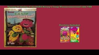 Barney's Camp Wannarunnaround RARE 1998 VHS Opening & Closing