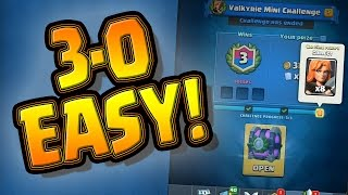 Easiest Challenge Mode for CLASH ROYALE? --- 3-0 is CAKE