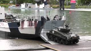 RC Boat - Landing Craft and Tanks at ASK Show Case 2014