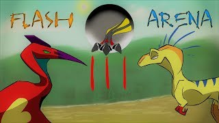 Flash Arena 3 - Quetzalcoatlus vs Megaraptor