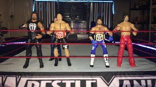 Roman Reigns and Brock Lesnar vs Aj Styles and Shinsuke Nakamura