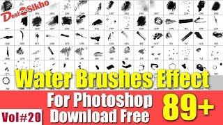 Water Color Brushes Effect For Photoshop Download Free Vol#20 [desimesikho] 2018
