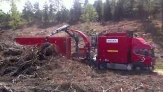 Woodchipper Truck In Sweden! Must see!!!