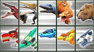 3D Dino Skeletons + Dino Robot Corps #2 | Eftsei Gaming