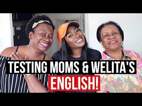 Lets See How Much English My Mom and Welita know?  Cuánto Inglés Sabe Mi Mamá y Mi Abuela??