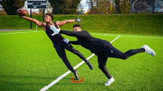 THE NASTIEST CATCHES YOULL EVER SEE.. DB vs WR 1ON1