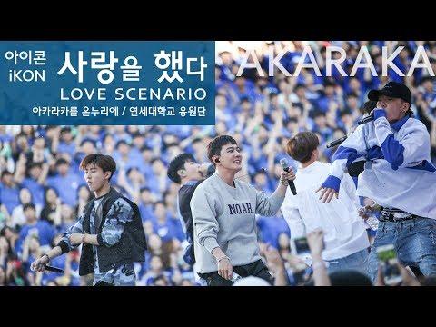 iKON Love Scenario live  아이콘 사랑을 했다 떼창  Fanchant Fancam  @ AKARAKA 2018 아카라카 연세대 축제
