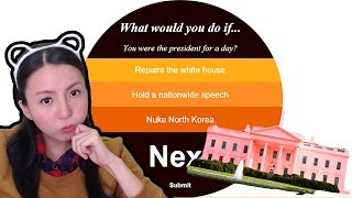 What would you do if you can paint the White House pink? What would you do if...