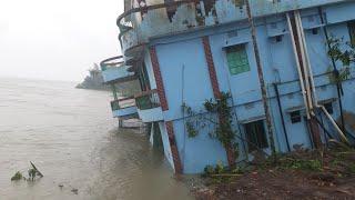 পদ্মার তীব্র ভাঙ্গনে শরীয়তপুর জেলা বিলীন হওয়ার শঙ্কা | Shariatpur Padma River Erosion