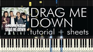 Drag Me Down - Piano Tutorial - How to Play - One Direction - Sheets