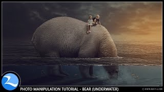 Bear Under Water Surreal Manipulation Photoshop Tutorial