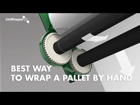 The best way to wrap a pallet by hand - LiteWrapper CL