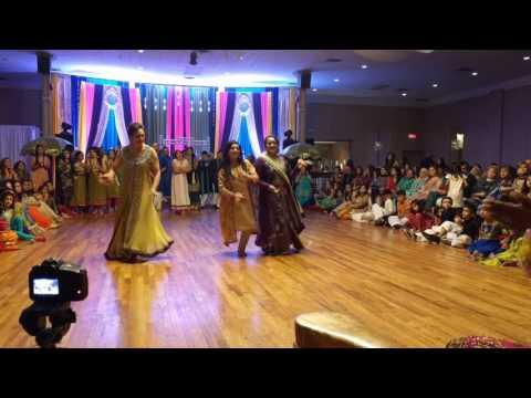 Sara & Atif Mehndi Dance 2016 girls side