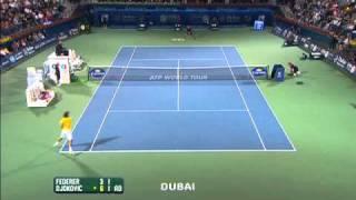 Djokovic Victorious Vs Federer In Dubai Final Highlights