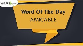 Online Banking Classes | Word of The Day Lec 11 Amicable | SBI PO | IBPS PO | SBI Clerk | IBPS Clerk