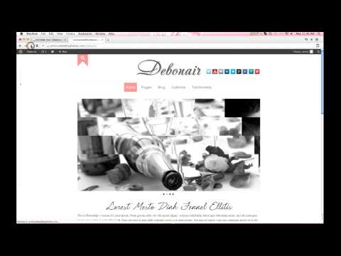 Debonair Home page and Blog Banner