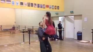 Rehearsal 'Charles Aznavour - She'. Noes Fiolet Studio's