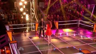 Dez Duron vs. Paulina - Just the Way You Are - The Voice Battle