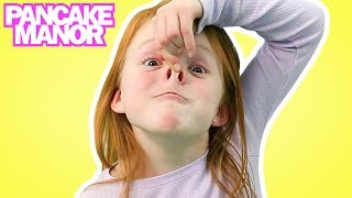 HEAD SHOULDERS KNEES & TOES ♫| Nursery Rhyme | Kids Songs | Pancake Manor