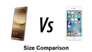 Huawei Mate 8 vs iPhone 6s Plus Size Comparison