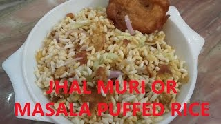 Jhal Muri or Masala Puffed Rice - Bengal's Famous Street Food Preparation At Home