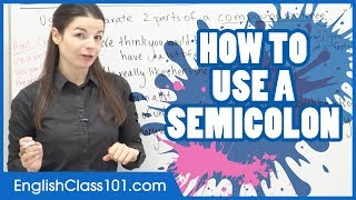 How to Use a Semicolon in English | Punctuation Guide - Learn English Grammar