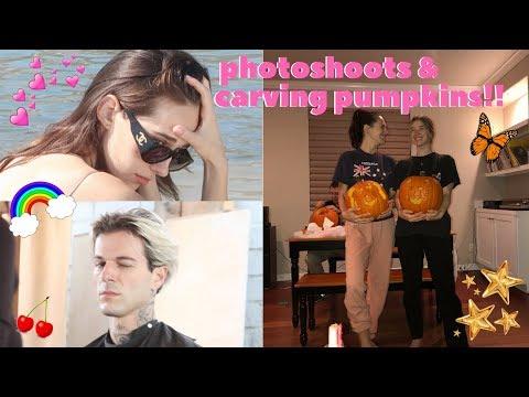 photoshoots & carving pumpkins!~ devon lee carlson🌟