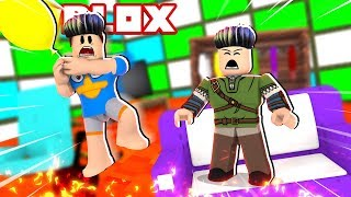 CABELO BLINDADO Vs CHÃO DE LAVA NO ROBLOX!! (The Floor Is Lava Escape)
