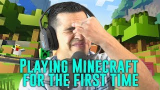 Playing Minecraft for the First Time!   David Lopez