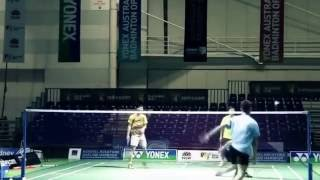 Lee Chong Wei training 2016 with three players badminton