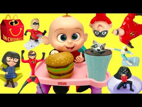Xxx Mp4 Full Set Of The Incredibles 2 Happy Meal Toys With Baby Jack Jack 3gp Sex