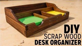 DIY Scrapwood Desk Organizer