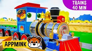appMink Trains | Toy Vehicles | Toy Trains | Color Learning | Shape Learning | Educational video