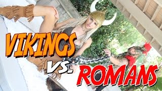 Viking Girl Alix Lynx takes on a Roman then a Unicorn!