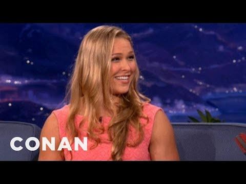 Xxx Mp4 MMA Champ Ronda Rousey On Sex Before Matches CONAN On TBS 3gp Sex