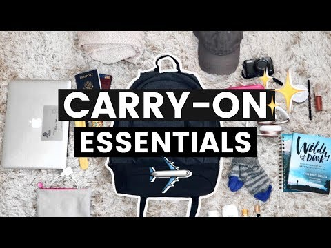 What s in my Travel Bag Carry On Essentials