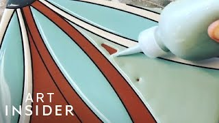 Handmade Ceramic Tiles Are Colorfully Painted