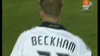 David Beckham- Secret free kick technique 4